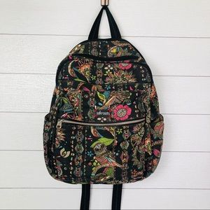 Sakroots Owl Printed Zipper Back Pack